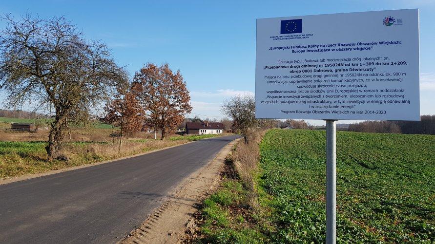 Zakończyła się realizacja inwestycji drogowej w Dąbrowie