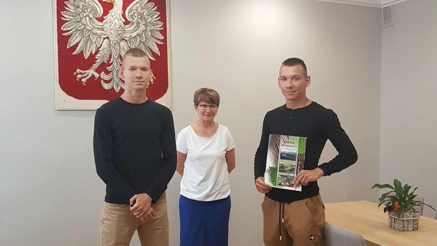 Uczeń Maciej Sztura z nagrodą Wójta za szczególne osiągnięcia w sporcie